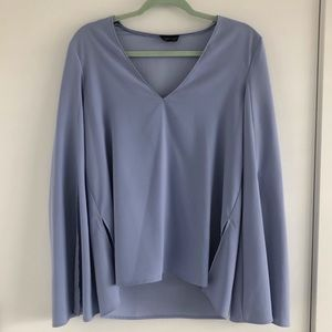TOPSHOP Blue Long Sleeved Shirt